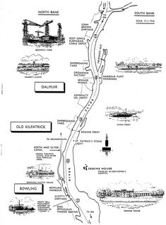 Believed to be from a Clyde Navigation Trust booklet 1962 Submarine Cable, West Coast Scotland, Wide World, Glasgow Scotland, Boat Plans, Urban Planning, Classic Trucks, Historical Photos, Bowling