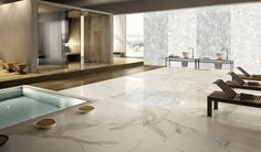 Pokój kąpielowy z sauną i basenem