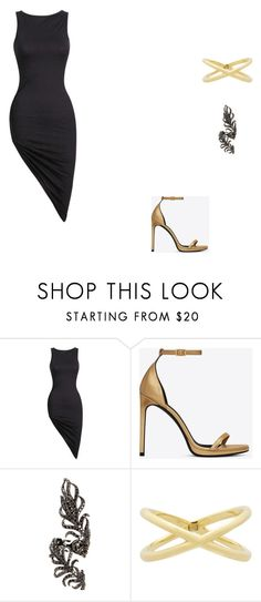 """""""Untitled #8290"""" by andreeascafariu ❤ liked on Polyvore featuring Yves Saint Laurent, Elise Dray and Eva Fehren"""