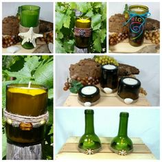 Recycled Wine Bottle Candles  www.etsy.com/your/shops/VinoCandleCellars