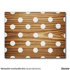 #polkadots #woodcase #minimalistdesign #woodpolkadots #postcard Minimalist wood polka dots. postcard