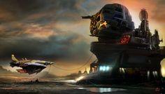 """Starbase"" by #AmauryBündgen.  #sciencefiction #scifi"