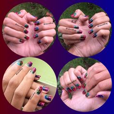 I did this mani for my friend.. And she loves it.. Hope all of u  can love it too..