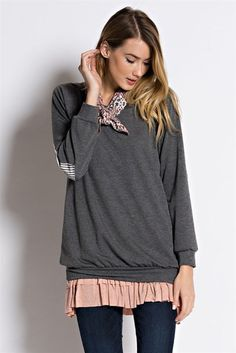 Smoke Off the Shoulder Sweater