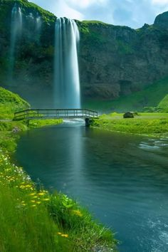 Seljalandsfoss is a waterfall in Iceland . Seljalandsfoss is located in the South Region in Iceland right by Route 1 and the road tha. Places Around The World, Oh The Places You'll Go, Places To Travel, Places To Visit, Around The Worlds, Travel Destinations, Winter Destinations, Photos Voyages, Beautiful Waterfalls
