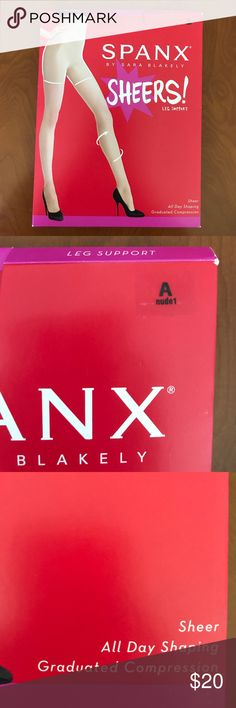 Spanx sheer leg support tights sz A nude03 new Spanx sheer leg support tights sz A nude03 new with box SPANX Accessories Hosiery & Socks