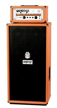 Orange bass cabinet
