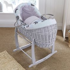 NEW 4BABY GREY DIMPLE SNOOZE POD BASKET DRESSINGS EXTRA BASKET COVER