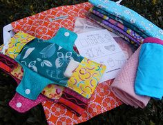 Sewing and kit component patterns and tips for sewing kits for Days for Girls. Be a Changemaker.
