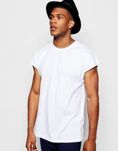 ASOS+Oversized+Sleeveless+T-Shirt+In+White
