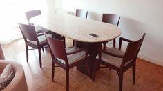 #salon#sillas#mesa#diferente#rehabilitacion#restauracion#decoracion#original#adhoc#tapizado#crear#construir#marmol#madera#haya#elegancia#ajuego#calido#tierras#color
