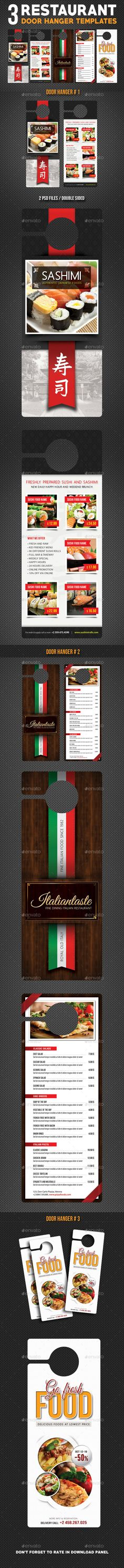Real Estate Door Hangers Template | Door Hanger Template, Font