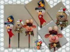 Christmas Items, Christmas Crafts For Kids, Holiday Crafts, Christmas Ornaments, Foam Crafts, Diy And Crafts, Polymer Clay Pens, 18th Birthday Cards, Pencil Toppers