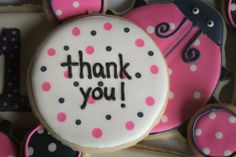 Coordinating Thank-You cookie. by navygreen, via Flickr