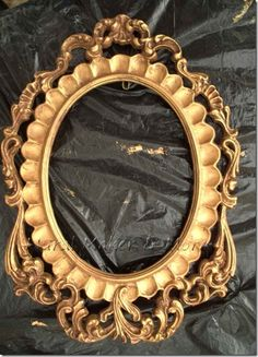 How to paint an antique gold finish