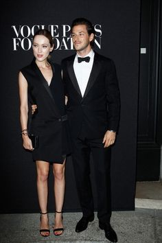 Gaspard Ulliel and guest attend the Vogue Foundation Gala