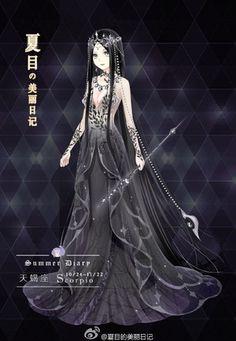 堆糖-美好生活研究所 Fantasy Costumes, Anime Costumes, Dress Up Diary, Kleidung Design, Anime Girl Dress, Pretty Anime Girl, Dress Sketches, Fashion Design Drawings, Fantasy Dress