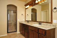 MOVE IN READY new home in Yukon, Oklahoma.  Valdera. Master suite w/double vanity, granite countertops, jet tub, separate shower & walk-in closet.  Drawers.  Cabinets.  Mirror frame. Tile.  10032 Volare Drive.  http://4cornershomes.com/c_movein_details.php?item=15&home=174