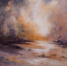 Sunrise vs storm. Oil on canvas 60x60cm