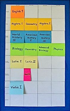Colored sticky notes can be the answer to your #homeschool planning troubles! @TheHomeScholar