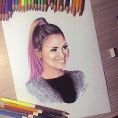 most insane drawing of Demi Lovato by Pedro Lopes Amazing Drawings, Cute Drawings, Amazing Art, Demi Lovato, Sketch Inspiration, Sketch Ideas, Sketch Art, Princess Protection Program, Camila Cabello