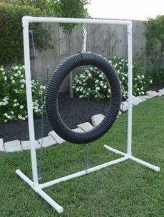 pvc tube - dog toy | Tire Jump for Dog Agility