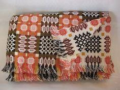 Bold Bedroom Geometry: Welsh Tapestry Blankets