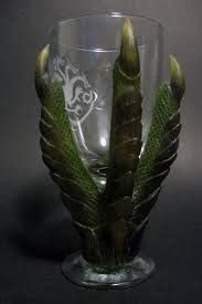 Image result for polymer clay dragon on wine glass