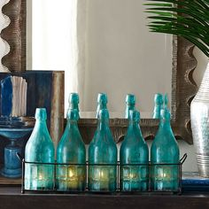 Wisteria - Accessories - Shop by Category - Candles & Candleholders - Bottle Basket Candleholder Thumbnail 1 Candles And Candleholders, Votive Candle Holders, Living Room Accents, Screened In Porch, Traditional Furniture, Cozy Place, Coastal Style, Wisteria, Vintage Decor