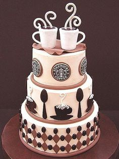 Okay, obviously a Starbucks cake is a bit much... but EVERYONE loves coffee cake!  That would be such a good wedding cake for breakfast!