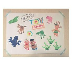 Infant Crafts, Baby Crafts, Kids Crafts, Arts And Crafts, Toy Story Crafts, Toy Story Theme, Footprint Crafts, Valentine Crafts For Kids, Foot Prints