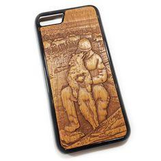 Чехол для iPhone 7 из дерева кусия, ручная работа, Якутия