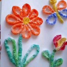 Crafts For Seniors, Paper Crafts For Kids, Crafts For Teens, Craft Work For Kids, Art For Kids, Paper Flowers Craft, Flower Crafts, Summer Crafts, Fall Crafts