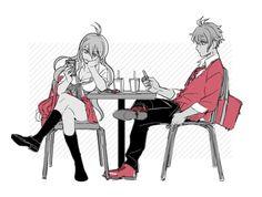 Miu Iruma and Rantaro Amami.