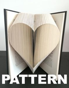 Book Folding Pattern - Heart + Free Instructions - Great for beginners #artdupliagedelivres - fixit