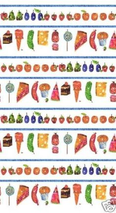 The Very Hungry Caterpillar - food stripes