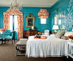 Gentil Orange And Teal Bedroom Ideas Design