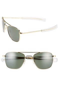 Women's Randolph Engineering 52mm Aviator Sunglasses - Gold