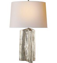 Visual Comfort TOB3735BSL-NP Thomas OBrien Sierra 28 inch 100 watt Burnished Silver Leaf Table Lamp Portable Light #LightingNewYork