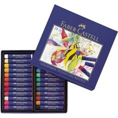 Faber-Castell USA Goldfarber Studio Oil Pastels 24 Color Set for sale online Faber Castell, Pastel Crayons, Vivid Colors, Colours, White Spirit, Drawing Letters, French Artists, Paint Brushes, Studio