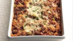 This Overnight Rotini Bake is the perfect make-ahead meal to give you more time doing what you love on this patriotic weekend, spend time with family! @bettycrocker