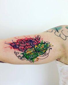 Dazzling Grape Tattoo Ideas