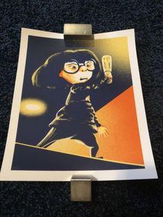 #art Rare Edna Mode Disney The Incrediblea Poster Mondo please retweet Edna Mode, Pixar, The Incredibles, Disney, Frame, Poster, Picture Frame, Pixar Characters, Frames