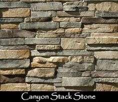 canyon stack stone-backsplash idea- To use on kitchen island and maybe backsplash. or glass tiles on backsplash Stacked Stone Backsplash, Stone Kitchen Backsplash, Backsplash Ideas, Interior Paint Sprayer, Dry Stack Stone, Stacked Stones, Faux Stone Walls, Stacked Stone Fireplaces, Farmhouse Kitchen Island