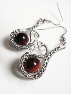 """Earrings \ """"anemone \"""" stainless steel"""