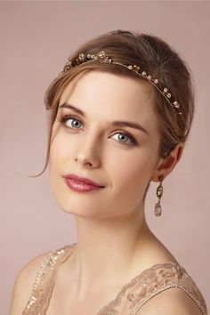Pretty make-up… Elderflower Halo in Bride Veils & Headpieces Halos & Headbands at BHLDN