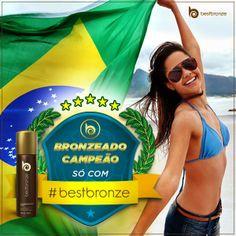 Marque um golaço contra a pele branquinha. Escale Best Bronze para a sua #seleção e assista aos jogos bronzeadíssima: www.bestbronze.com.br