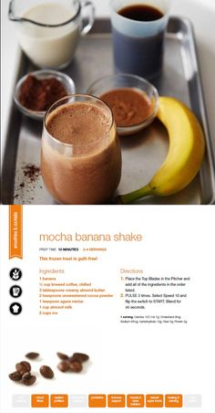 Try Mocha Banana Shake using the NInja Ultima. A sweet treat and guilt-free!