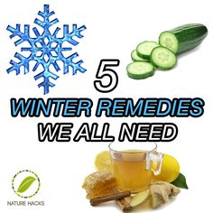 Winter Remedies we all need.