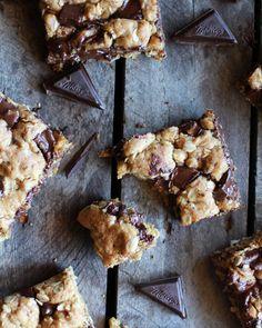 Healthy Dark Chocolate Chunk Oatmeal Cookie Bars (Idiot Proof) - Half Baked Harvest